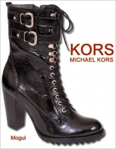 Kors by Michael Kors - Black Patent Lace up Ankle Boot - Mogul