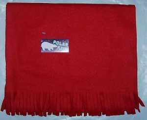 Polar Fleece Scarf with Fringe ends 72 Inch Long