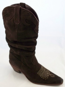 Women's MIA Slouch Saddle Boots – Suede Boot