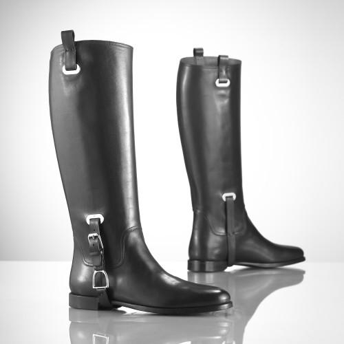 Ralph Lauren Calfskin Riding Boots - Serana