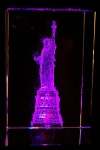 3 Inch 3D Laser Etched Crystal - New York Statue Of Liberty