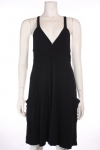 J VALDI Black Racer Back Bamboo Coverup Dress