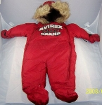 Avirex Infants Snow Suit - One Piece Fleece Suit