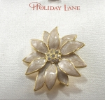 Holiday Lane Flower Brooch - Flower Pin
