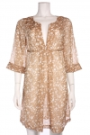 DIANE VON FURSTENBERG Gold Rings Silk Dress - B1001101P8