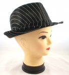 Pinstriped Fedora Hats | Pinstripe Fedoras