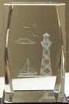 3D Laser Etched Crystal - Crystal Light-House