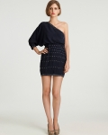 Madison Marcus - One Shoulder Long Sleeve Embelleshed Dress