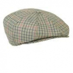 Men's Wool Plaid Tweed Applejack Cap