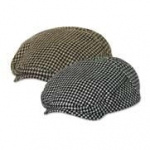 Wool Blend Hound's-Tooth Ivy Cap – Checker Ivy Cap