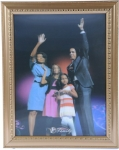Barack Obama & Family 3D Picture Winning the Presidency