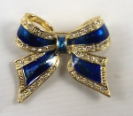 Bow Brooch with Enmarel Stones - Bow Pin