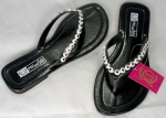 Women's Thong Sandals with Rhinestones on Straps