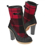 "KORS Michael Kors Women's ""Stream"" Plaid Ankle Boots – Duck Boot"