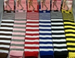 Thigh High Spandex Stripe Legwarmers - Leg Warmers